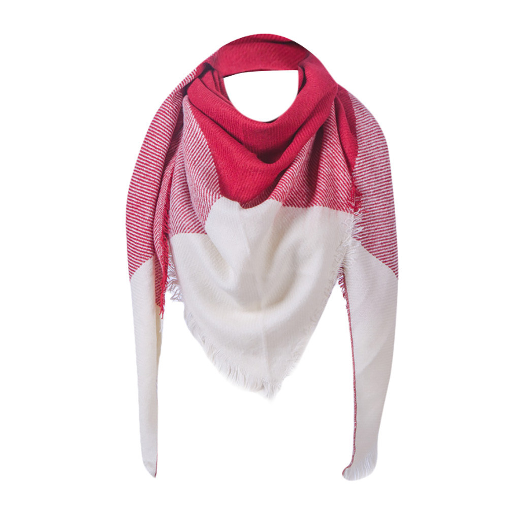 KANCOOLD fashion femme silk square handkerchief women's   scarf   Vintage Lattice Fringe Square Long   Wrap   Shawl Stole Cape PSEPT6
