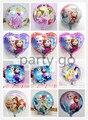100pcs 18 inch Cartoon Princess Elsa&Anna Foil balloons Snow Queen Movie Helium balloon,birthday party or festival decor Globos