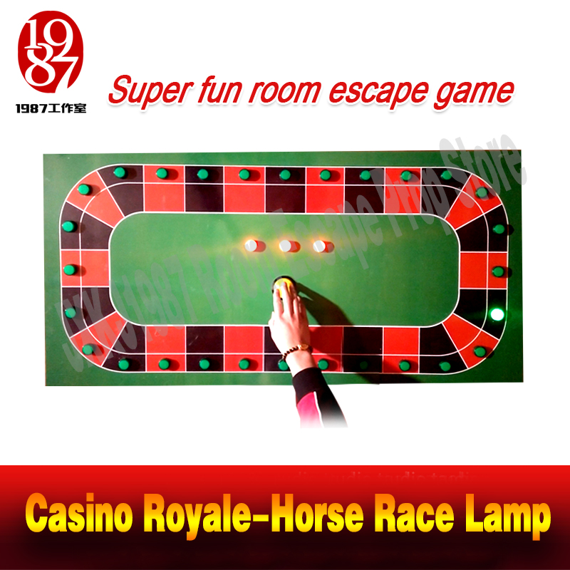 Room escape prop real life adventure device Casino Royale Horse Race Lamp from JKXJ1987 catch the running lamp to unlock casino royale фишки для игры в покер casino royale с номиналом 100