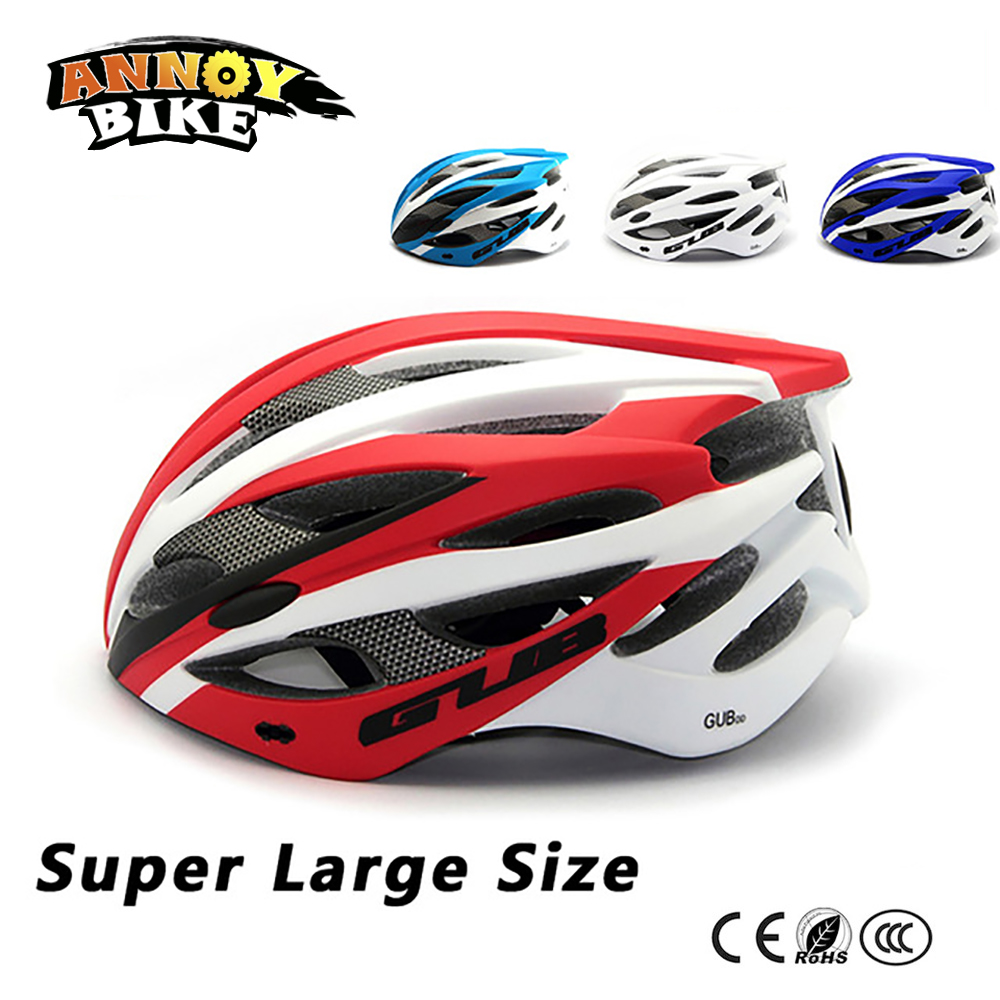 Super Large size bicycle helmet mountain bike road bike riding helmet GUB DD MTB bicycle integrated molding safety hat gub 116 titanium axle safety quick release mountain bike bicycle use al6061 t6 tc4 light weight quick dismantling mtb