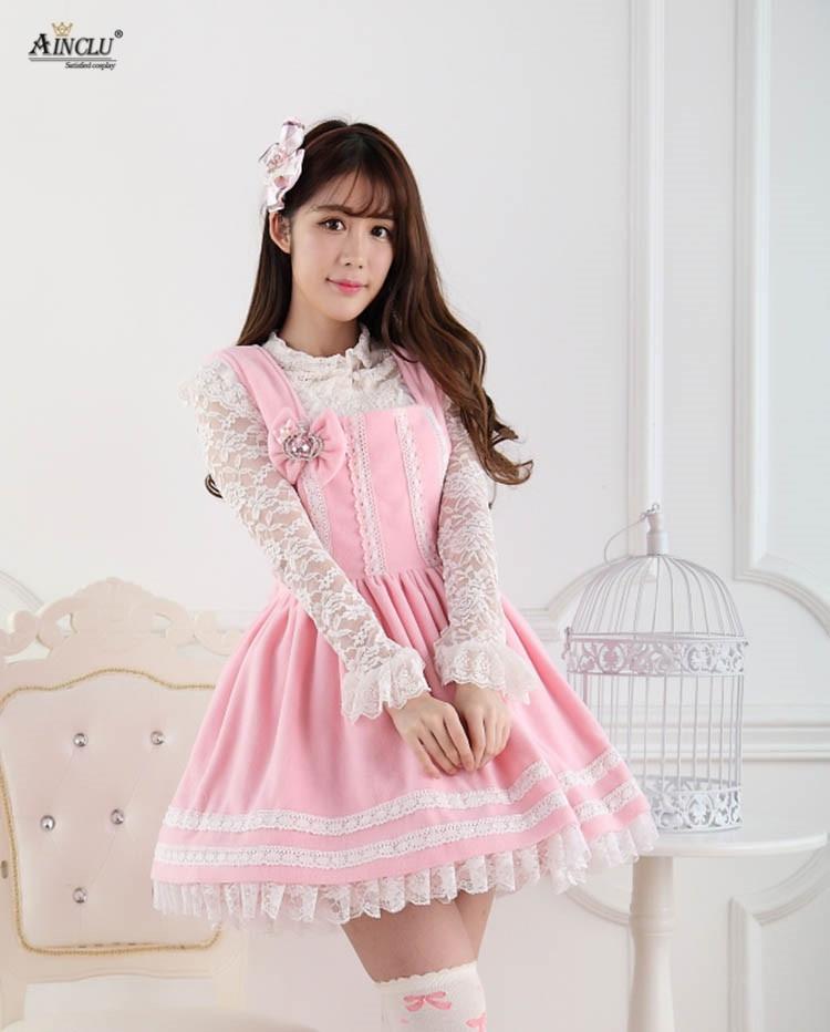 Sweet Fluffy: Ainclu Women's Pink Polyester Sweet Cute Fluffy Strap