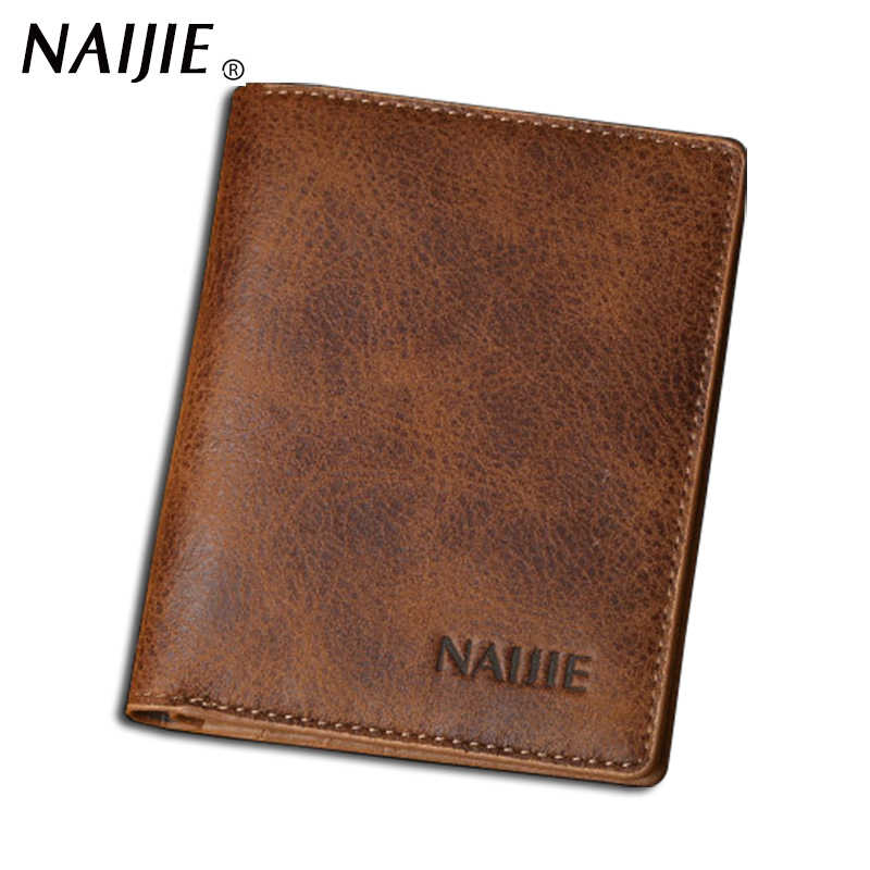 Top quality vintage leather wallets men retro wallet leather man small purse male clutch bags cheap wholesale price