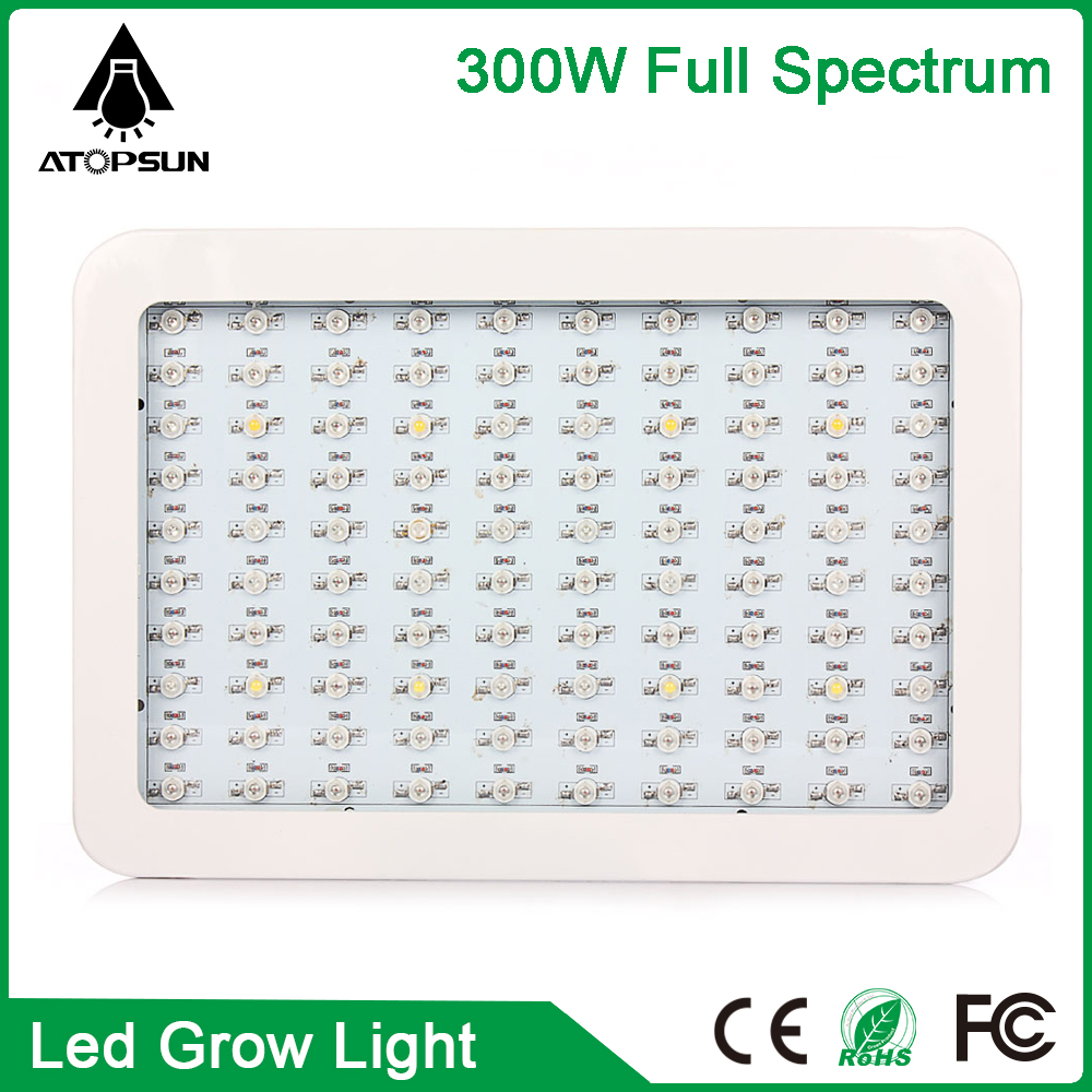 1pcs Newest 100leds 300W Full spectrum AC85-265V High power LED Grow light led lamp for flowering plant and hydroponics system led grow light lamp for plants agriculture aquarium garden horticulture and hydroponics grow bloom 120w 85 265v high power