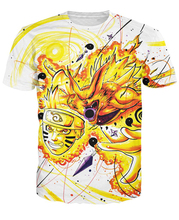 Naruto Kyubi Mode T-Shirt SWEET T SHIRT nine-tailed fox cartoon character 3d unisex Print t shirt Women's Clothing tshirts(China)