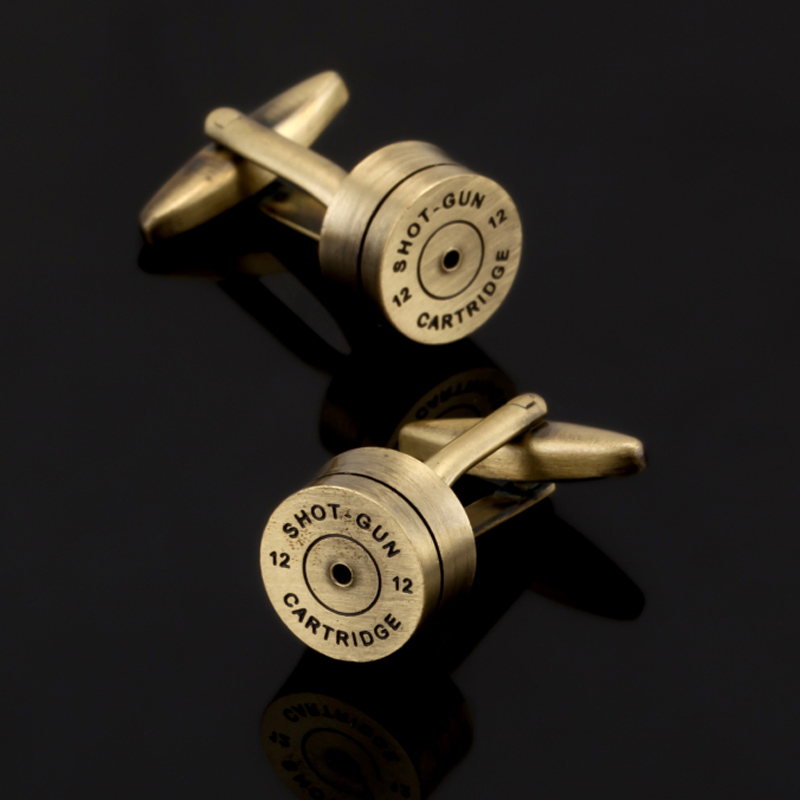 Free Shipping, High Quality Bronze And Gold Bullet Cufflinks, And Wedding Shirt Cufflinks Designed By Senior Masters