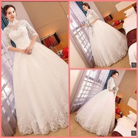 Robe de mariage ball gown wedding dress lace appliques beaded sequins hollow back sexy formal wedding gowns best selling bride d