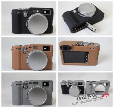 Camera Bag Silicone Case For Fujifilm Fuji X100F x100f Protective Body Cover Color Black Brown Gray