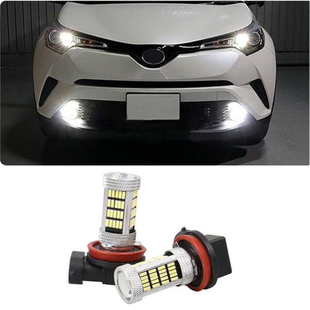 Shinman 2 pièces brouillard lampe à LED pour Toyota CHR C-HR 2017 2018 4014 92smd SIDELIGHT brouillard ampoule LED CANBUS sans erreur