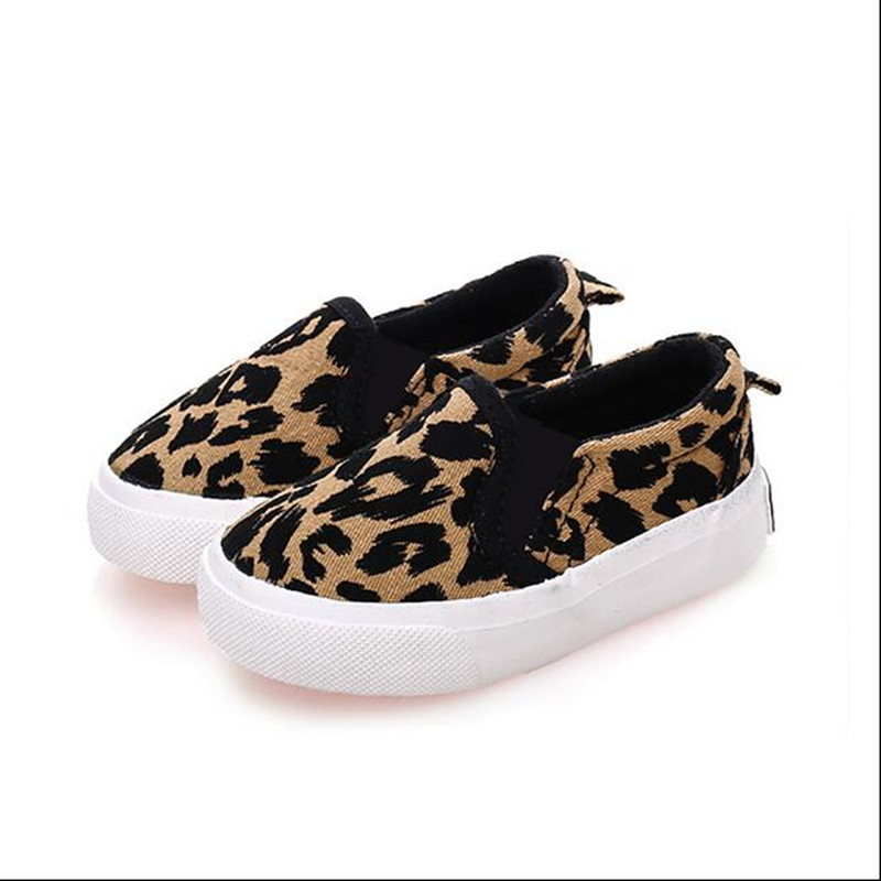 2019 Autumn Kids Shoes Toddler Boys Girls Casual Shoes Fashion Leopard Print Comfortable Canvas Shoes Children Sneakers 2 Colors