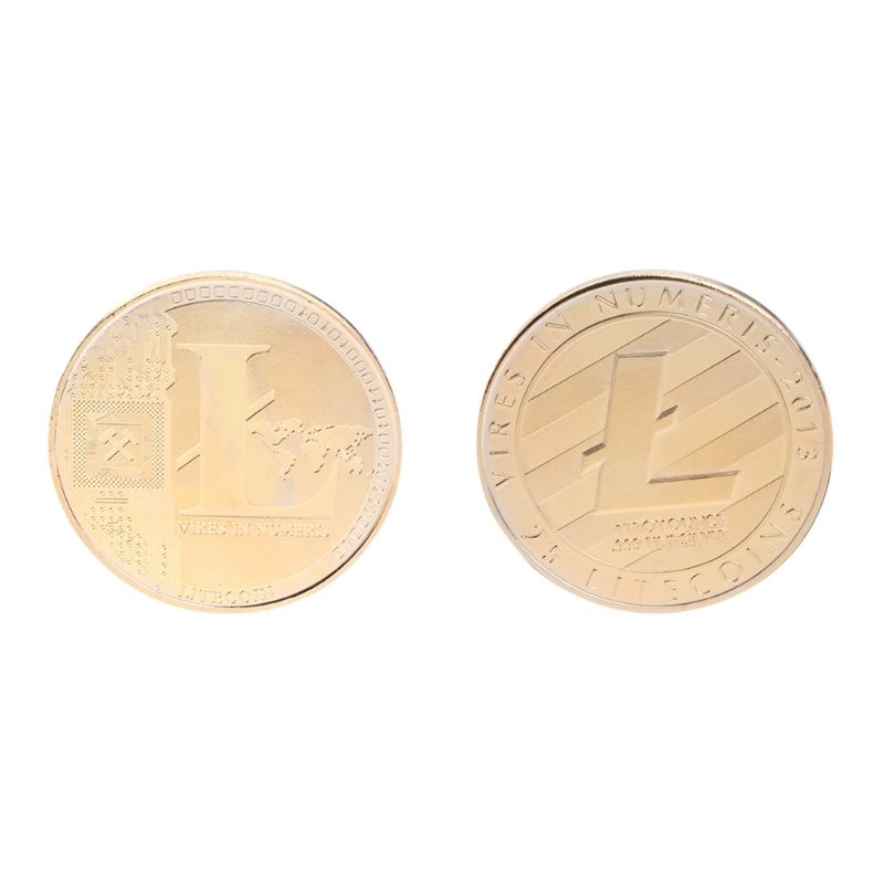 Plated Litecoin Coins Commemorative Coins Gold Vires in Numeris Commemorative Coin Collection