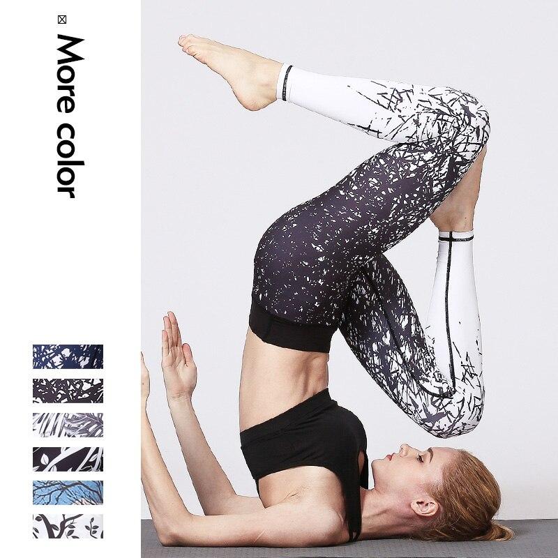 5cd94df27487c Womens Tree Printing Yoga Leggings Gym Fitness Running Pilates Tights  Skinny Pants 3D Printing Women Sports ...