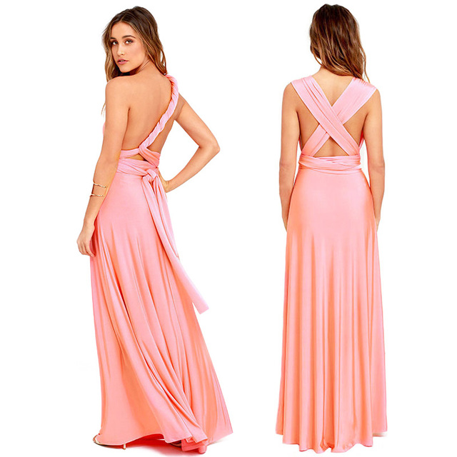 5137c9670e US $6.99 35% OFF|Sexy Women Multiway Wrap Convertible Boho Maxi Club Red  Dress Bandage Long Dress Party Bridesmaids Infinity Robe Longue Femme-in ...
