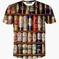 Latas de toda la ropa camiseta impresa 3d Hombres de la camiseta nueva camiseta de verano de manga corta casual camiseta tops S-XXL caliente T1513