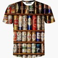 Whole clothing Cans printed tshirt 3d t shirt Men new summer tees short sleeve casual t-shirt hot tops S-XXL T1513