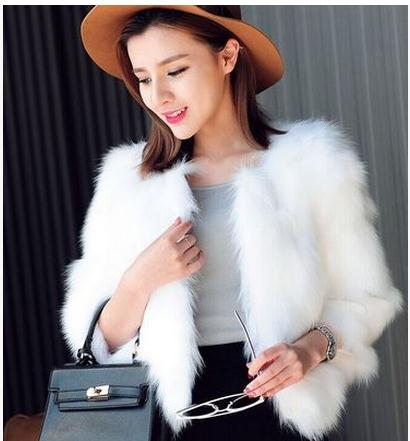 Popular White Fox Fur Coat-Buy Cheap White Fox Fur Coat lots from ...