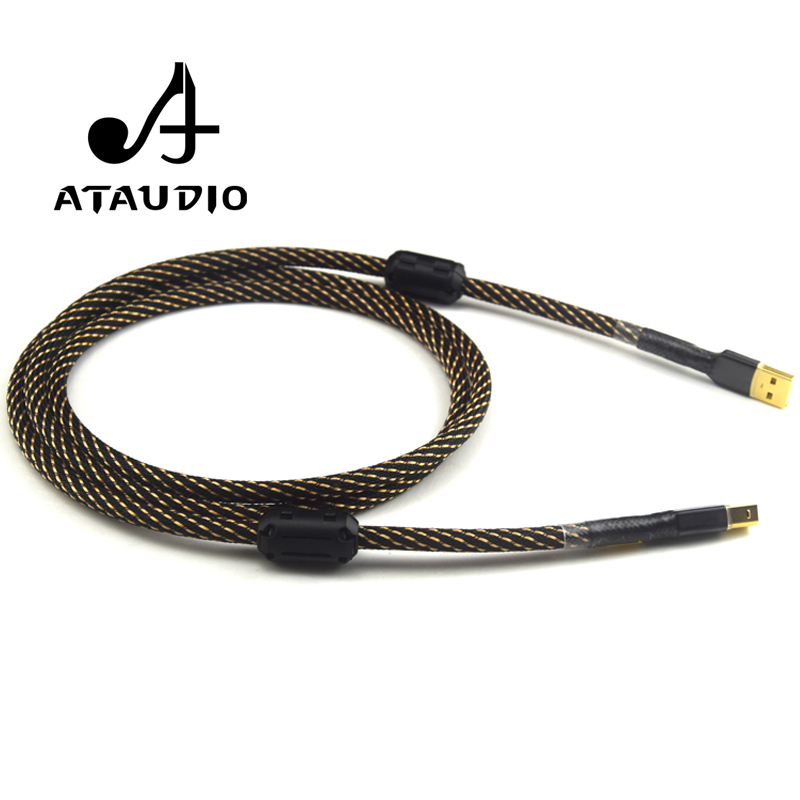 cheapest ATAUDIO Hifi USB Cable High Quality Type A to Type B Hifi Data Cable For DAC
