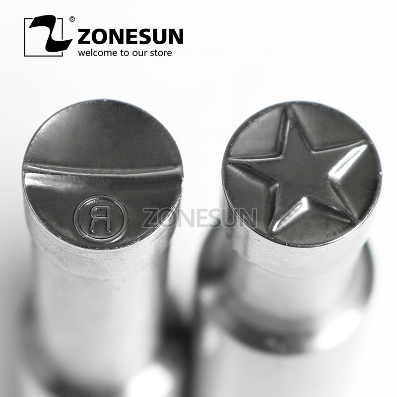 ZONESUN Star R Logo Customized Milk Tablet Slice Die Stamp Precision Punch Die Mold Sugar Tablet Press Tool Tdp 0/1.5/3