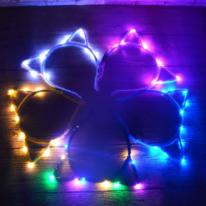 Crown Shape Light-Up LED Flashing Headbands Party Favors Crafts Random color Pro