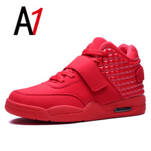New fashion men casual sport shoes non-slip bottom Air platform shoes classic mens walking shoes high quality men zapatillas red