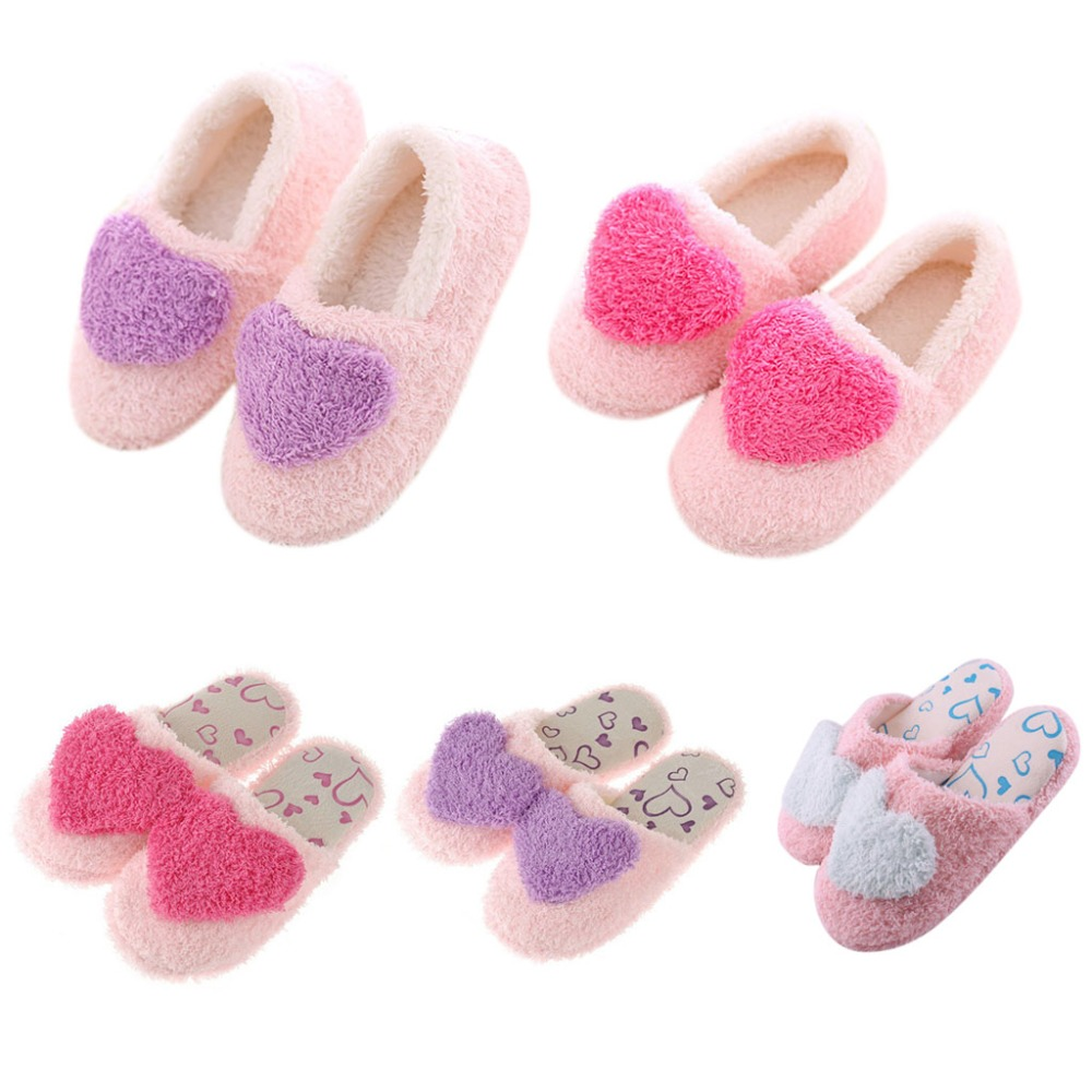Women Warm Slippers Winter Indoor Heart Shaped Soft Plush House Shoes Floor HomeWomen Warm Slippers Winter Indoor Heart Shaped Soft Plush House Shoes Floor Home