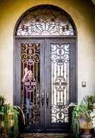 Sprzedaż hurtowa kutego żelaza drzwi wejściowe żelazne żelaza podwójne drzwi wejściowe żelazne żelaza drzwi wejściowe żelazne żelaza drzwi wejściowe na sprzedaż hc8