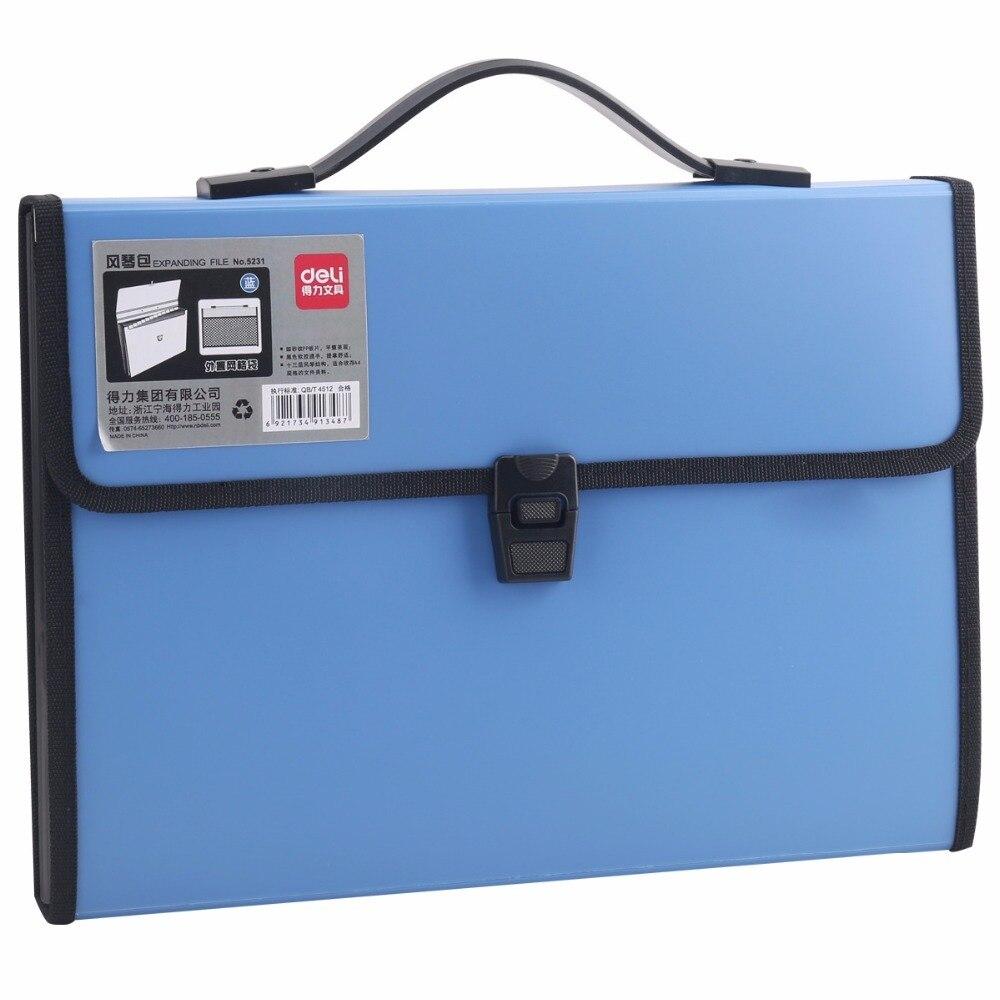 US $17 0 |Deli durable A4 Expanding Wallet Convenient Category Management  folder rectangular folders package shape File folder-in File Folder from