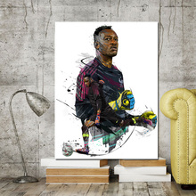 Leo Troude Dessin Foot Joueur France Canvas Painting Prints Wall Art Figure Posters For Living Room Home Decoration
