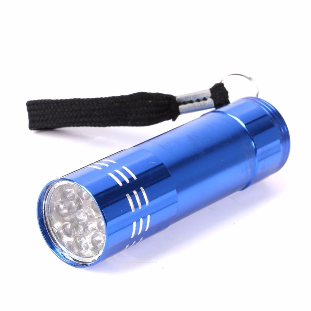 1 Stück Mini 9 Led Uv Gel Aushärtung Lampe Ohne Batterie Portabilität Nagel Trockner Led Taschenlampe Währung Nagel Kunst Dekoration Schönheit