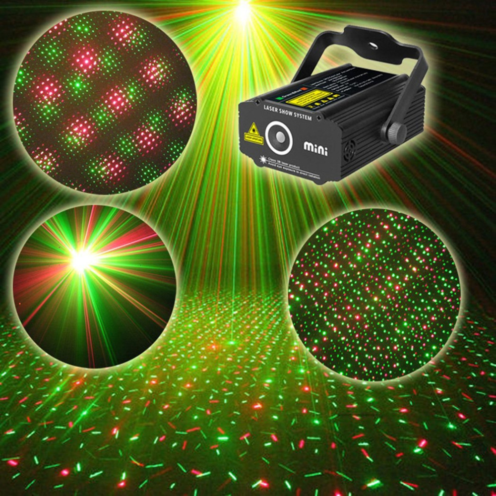 Industrial Light Sound Effect: Mini Led Laser Stage Light Sound Activated Disco DJ Star