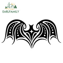 EARLFAMILY 30cm x 15cm Personality Tribal Bat Vinyl Sticker Auto Motorcycle Car Decal Reflective Sticker Waterproof Black/Silver(China)