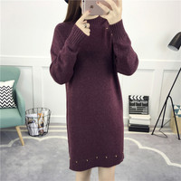 2018 New Women S Warm Winter Female Korean Version Of The Long Bright Explosion Sweater Fashion