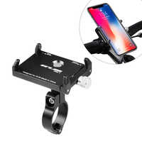 Aluminium Alloy Bicycle Mobile Phone Holder Smartphone GPS MTB Bike Motorcycle Stand Handlebar Holder For 3.5-6.2inch Smartphone