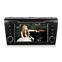 AZGIANT 7 Inch Double Din Universal In Dash Car Dvd Player With GPS Navigation For Mazda