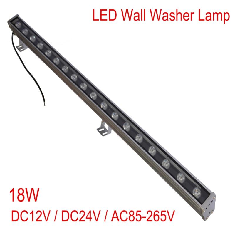 New 1M 18W LED Wall Washer Landscape light AC 85V 265V/DC12V/DC24V outdoor lights wall linear lamp floodlight 100cm wallwasher