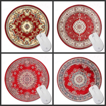 Congsipad 200*200*2mm Print Red Persian rug Customized  Non-Slip Rubber 3D Printing Gaming  Durable Notebook Round mouse pad