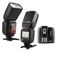 NHANH Phí Vận Chuyển 2X Godox TT685S 2.4 Gam HSS 1/8000 s TTL Speedlite GN60 Máy Ảnh Flash Light + X1T-S Wireless Trigger Flash Cho Sony