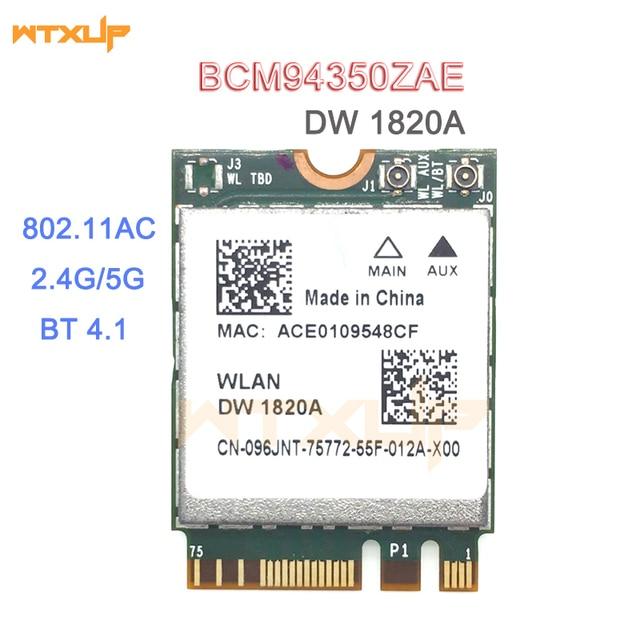 DW1820A BCM94350ZAE BCM94356ZE 802.11ac BT4.1 867Mbps wifi Adattatore BCM94350 M.2 NGFF Scheda Wireless WiFi meglio di BCM94352Z