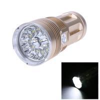 Aluminium Alloy Flashlights Hard Lighting Torch Light For Camping Hunting LED Lamp Gold