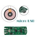 Módulo cargador universal de carga inalámbrica qi receptor para micro usb del teléfono celular ljj0118