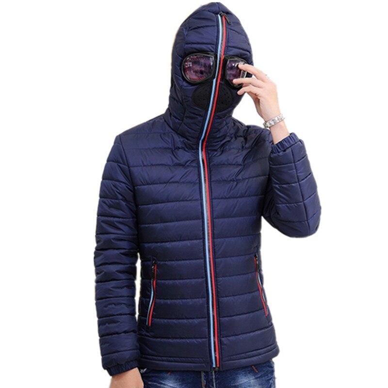 2019 Herren Warme Camperas Kinder Winddicht Stepp Jacke Winter Jacken Männer Parkas Mit Brille Gepolsterte Kapuze Mantel