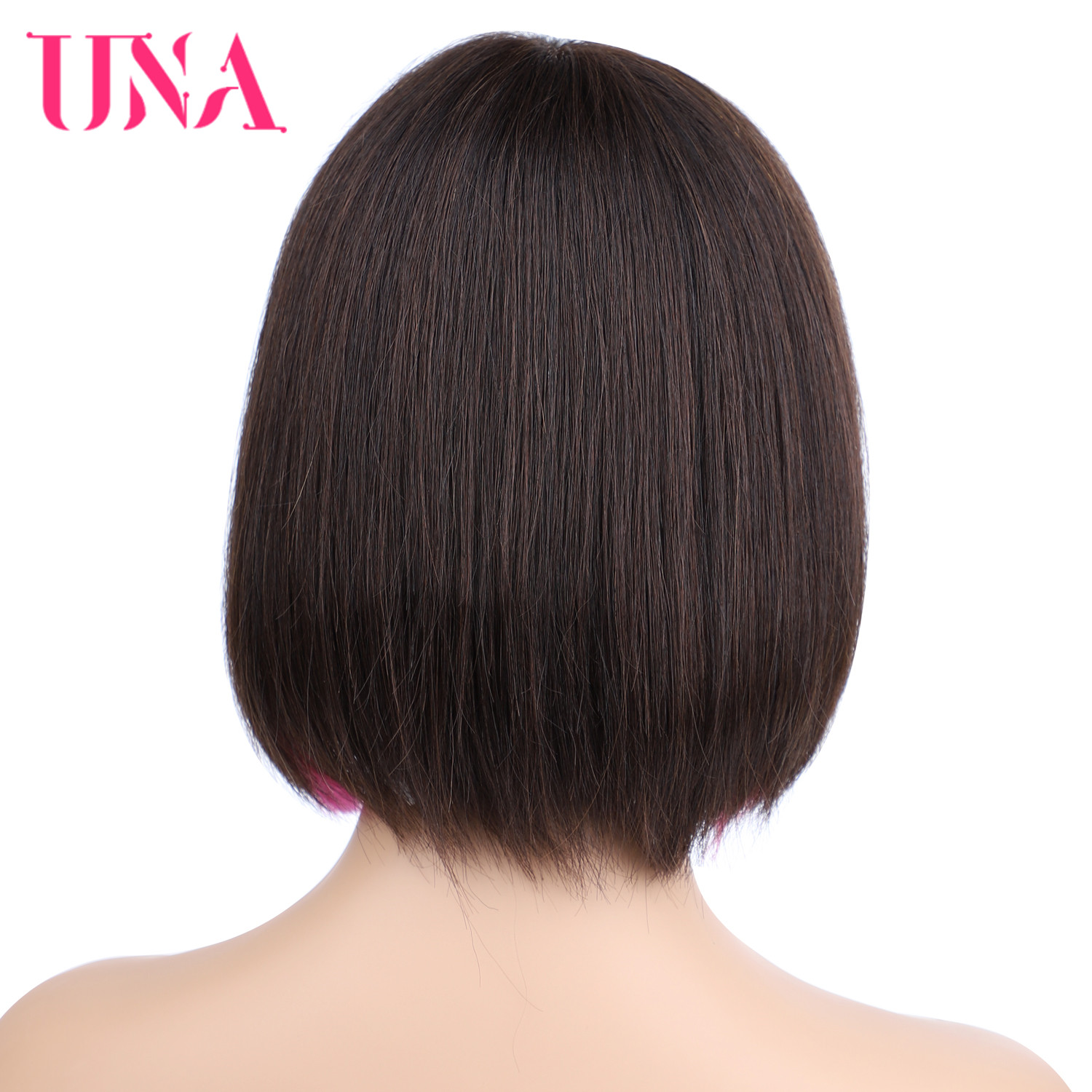 Brazilian Human Hair Wigs Non Remy Hair BOBO Wigs Straight Machine Human Wigs with MOMO Web 10 Inches Long 12 Colors Avalable in Full Machine Wigs from Hair Extensions Wigs