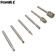 Rumble 6pcs Mini Drill Bit Set Cutting Tools Rotary Tool For Woodworking Knife Wood Carving CNC Engraving Tools Kit Accessories(China)