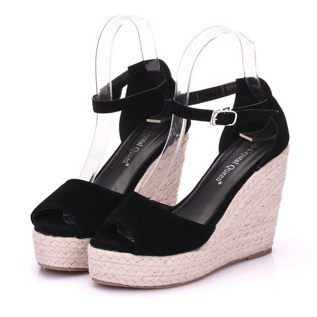 0a3cf23e5 Muhuisen 2018 New Arrival Ladies Shoes Women Sandals Summer Open Toe Fish  Head Fashion Platform High Heels Wedge Sandals Female