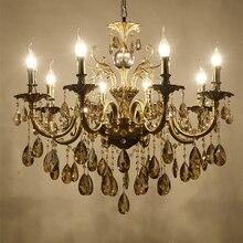 Современная роскошь большой золотой кристалл арматура для люстры лампы для гостиная спальня и кабинет AC 110 В ~ 240