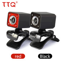 TTQ Original Webcams LED Light Webcam USB Microphone MIC For PC Laptop Video Night Lights For Computer High Quality 640 * 480