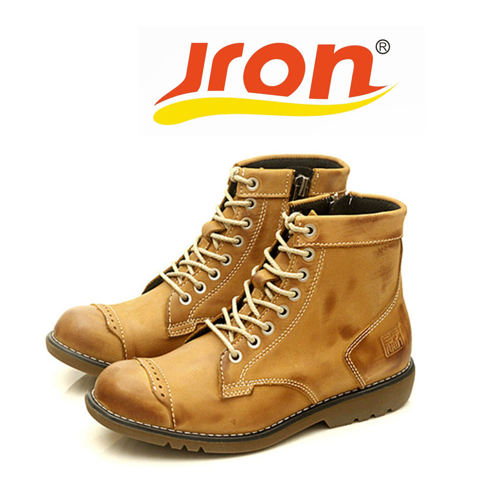 Jron Waterproof Men Boots Genuine Leather Ankle Autumn Winter Rubber Sole Dress Boots Three Color Available 17.5 CM Heel To Sole jron mid calf genuine sheepskin leather woman shearling snow boots rubber sole anti slip function warm boots for winter autumn