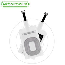 NTONPOWER Wireless Charging Connector For iPhone 7 6 6s 5 Micro USB Type C Universal Qi Wireless Charger Adapter Receiver(China)