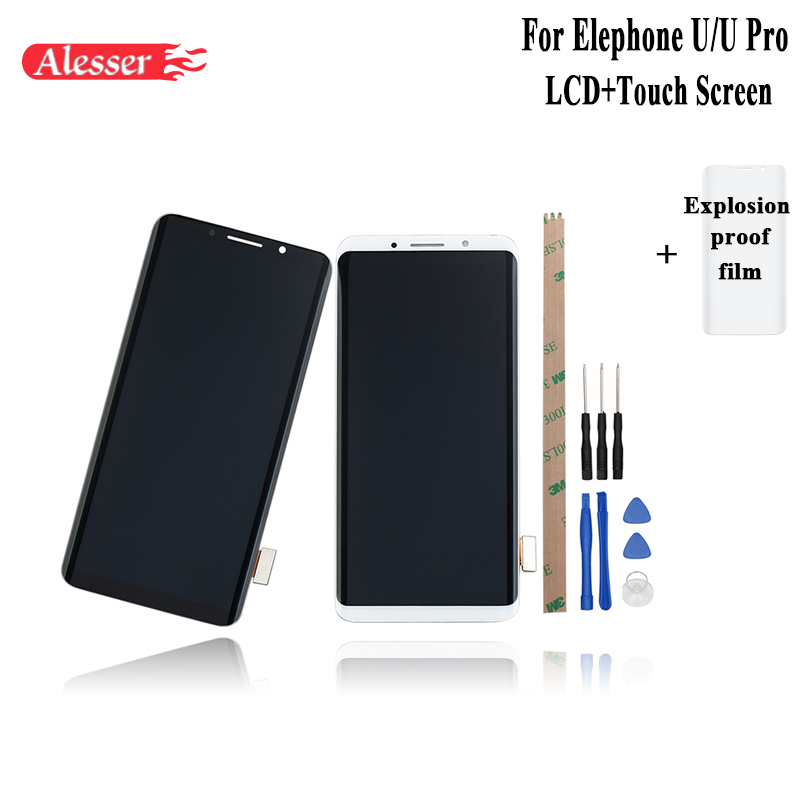 Alesser For Elephone U U Pro LCD Display and Touch Screen Assembly Repair Parts +Tools +Adhesive +Film For Elephone U U Pro