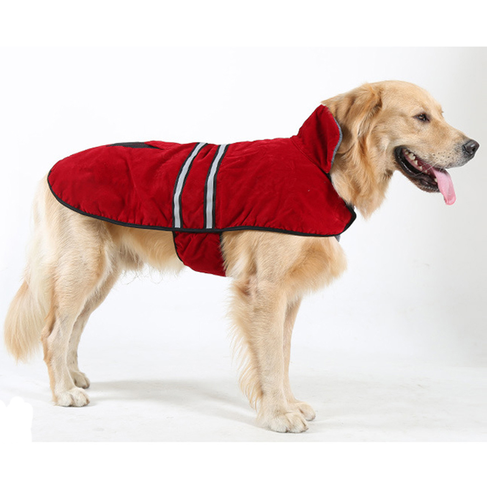 Pet Products Dog Raincoat Large Dog Raincoat Waterproof Jacket dog Warm Clothes New High Quality