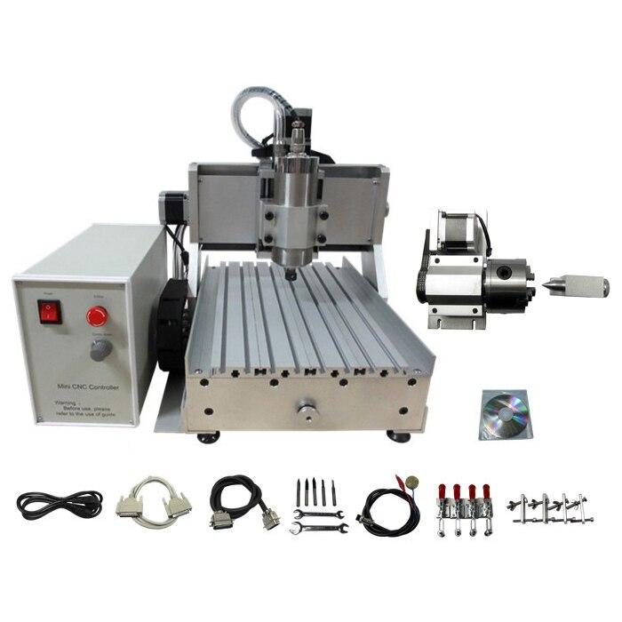 1.5kw 3020 Cnc Router 4 Achsen Diy Cnc-gravur-schneidemaschine Mach3 Steuerung Box Mit Wassergekühlte Spindel Weich Und Leicht
